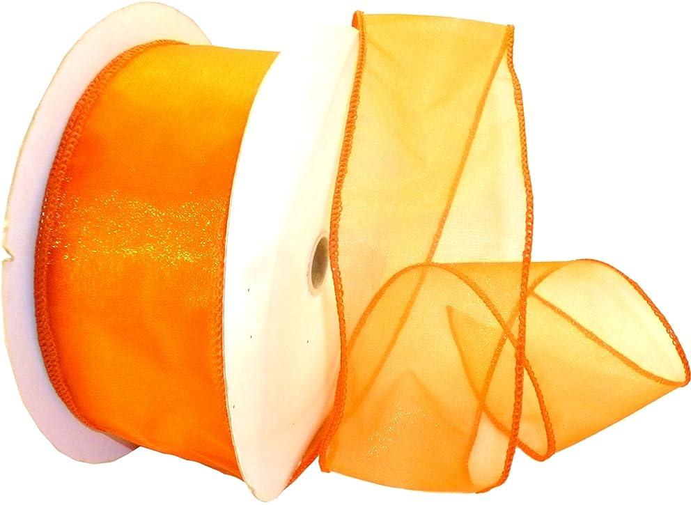 Reliant Ribbon Sheer Lovely We Ribbon, 2.5-Inch by 50-Yard, Orange
