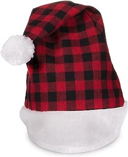 Windy City Novelties Holiday Christmas Plaid Santa Hat for Adults and Kids (Plaid Design Santa Hat)