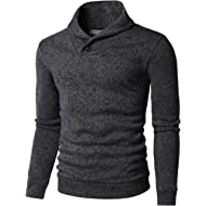 H2H Mens Casual Slim Fit Pullover Sweatshirts Knitted T-Shirts Thermal Napping Inside of Various...