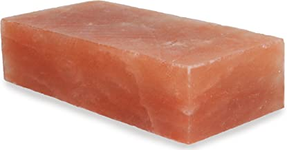 IndusClassic RSP-17 Himalayan Salt Block, Plate, Slab for Cooking, Grilling, Seasoning, And Serving (8 X 4 X 2