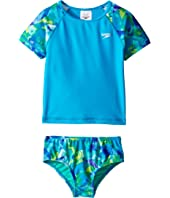 Speedo Kids - Printed Short Sleeve Rashguard Two-Piece Swimsuit Set (Infant/Toddler)