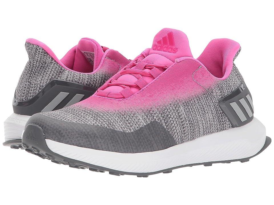 adidas Kids RapidaRun Uncaged (Little Kid/Big Kid) (Grey/Shock Pink) Girls Shoes