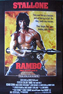 Sylvester Stallone Rambo repro movie poster 14.5 x 21 First Blood Part II 2 (sent FROM USA in PVC pipe)
