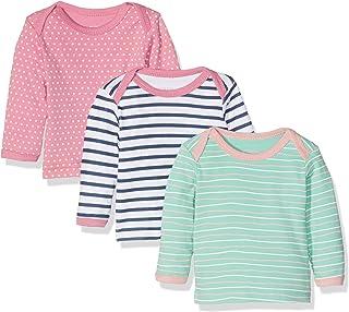 Care Camiseta Manga Larga Bebé-Niñas, Pack de 3