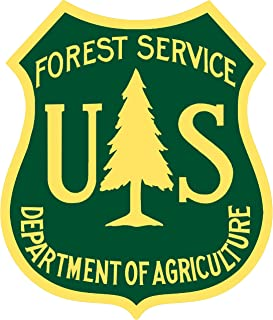 Garage Art Signs US Forest Service Reproduction Laser Cut Out of Metal 12x14