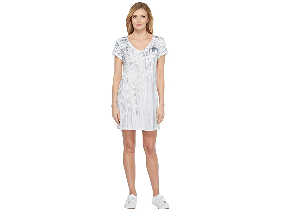 Michael Stars Nautical Wash Short Sleeve V-Neck Dress (Oxide) Women