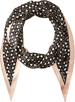 Echo Design - I Heart You Silk Diamond Shaped Scarf