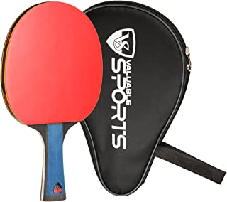 Valuable Sports Carbon Table Tennis Racket - Comes with Case - Professional - Ping Pong Paddle