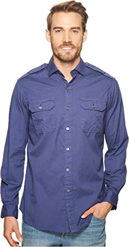 Garment Dyed Chino Long Sleeve Sport Shirt
