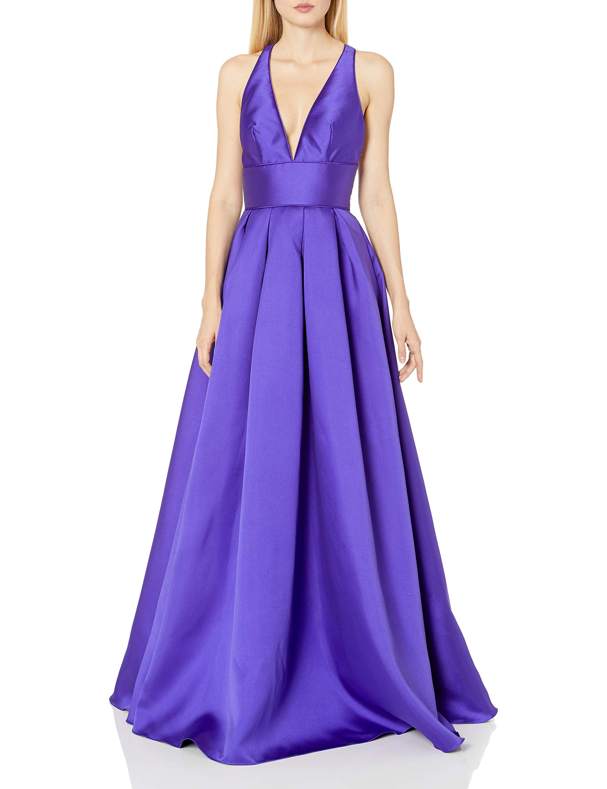 Available at Amazon: Mac Duggal Women's  X Back Wide Waistband Gown