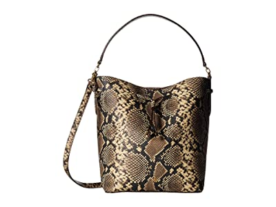 LAUREN Ralph Lauren Dryden Debby Medium Drawstring (Oatmeal Multi) Handbags