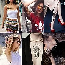 Kotbs 6 Sheets Temporary Tattoos for Women Men Sexy Body Art Arm Flash Tattoo Stickers Waterproof Fake Henna Painless Sticker