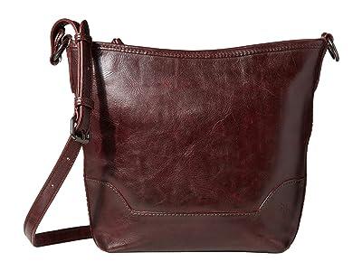 Frye Melissa Small Hobo (Merlot) Handbags