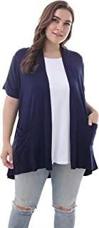 Best navy short sleeve cardigan plus size Reviews