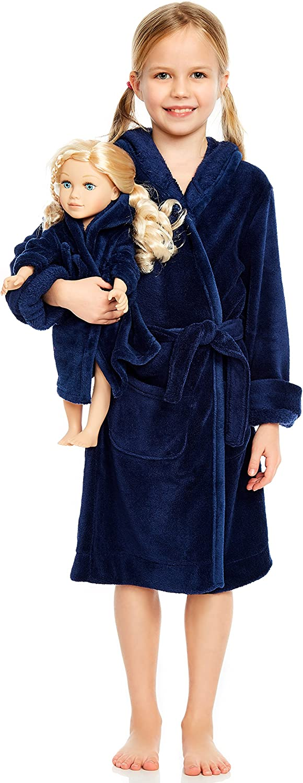 Leveret Kids supreme Robe Matching Doll Sleep Fleece Girls Bathro Max 42% OFF