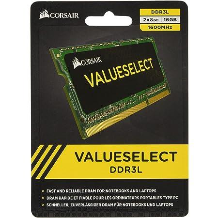 CORSAIR DDR3 SO-DIMM メモリモジュール Value Select Series 8GB×2枚キット CMSO16GX3M2C1600C11