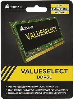Corsair CMSO16GX3M2C1600C11 16GB (2x8GB) 1600MHz PC3-12800 204-Pin DDR3 SODIMM Laptop Memory Kit 1.35V