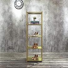 FURVOKIA Clothing Retail Heavy Duty Metal Display Rack,Floor-Standing Shoe Bag Plant Jewelry Shelves,Home Kitchen Bedroom ...