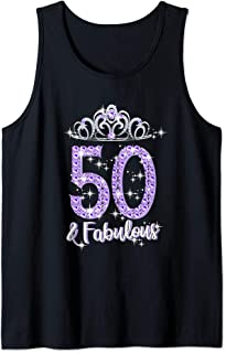 Womens 50 And Fabulous 1969 50Th Birthday Gift T-Shirt Tank Top