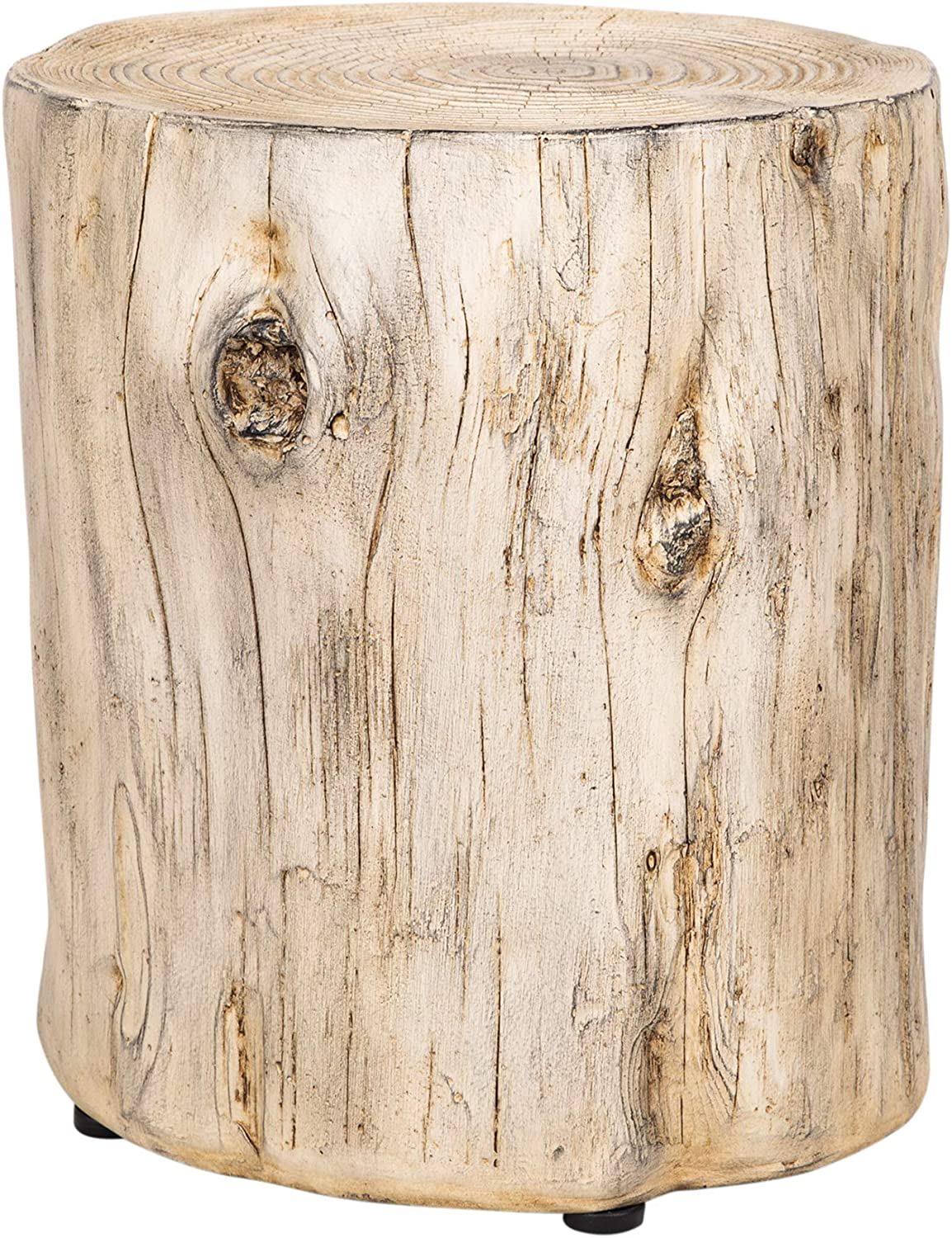 Ball & Cast Faux Wood Stump Stool Accent Table 14.9