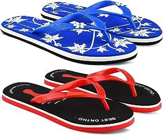 StyleArt Women's Combo of 2 Pair Flip Flops, Blue & Black EVA Slipper for Women, Blended Combination of Luxury Style, Ligh...