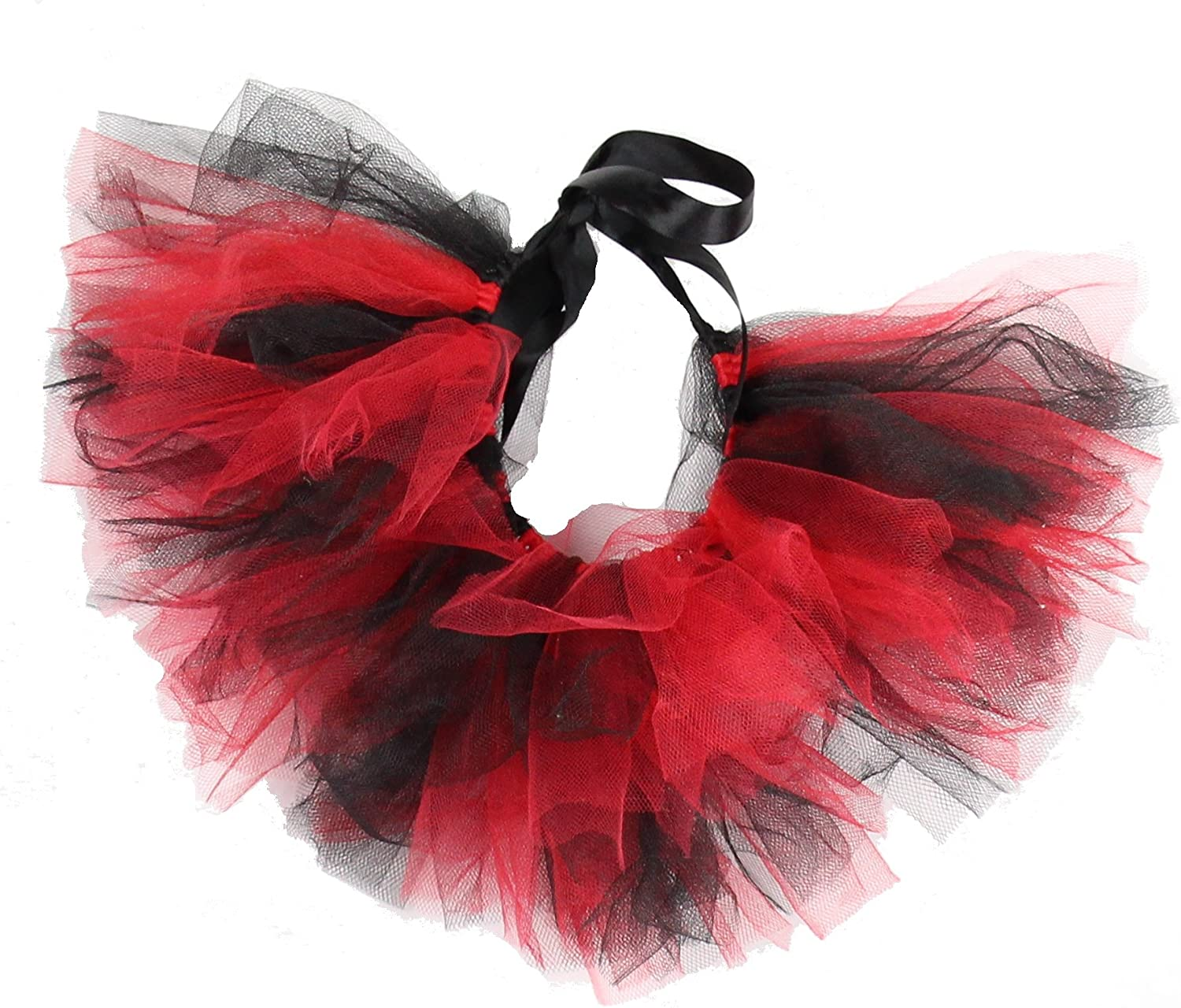 PAWPATU Team Spirit Tulle Tutu for XLarge Dogs, Handcrafted in USA, Red and Black