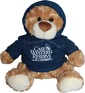 Mascot Factory Case Western Reserve University Spartans Teddy Bear with Blue Hoodie Sweatshirt 9 Inches Tall