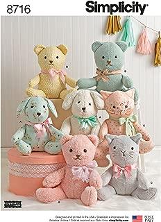Simplicity Creative Patterns US8716OS Pattern 8716 Stuffed Animals Crafts