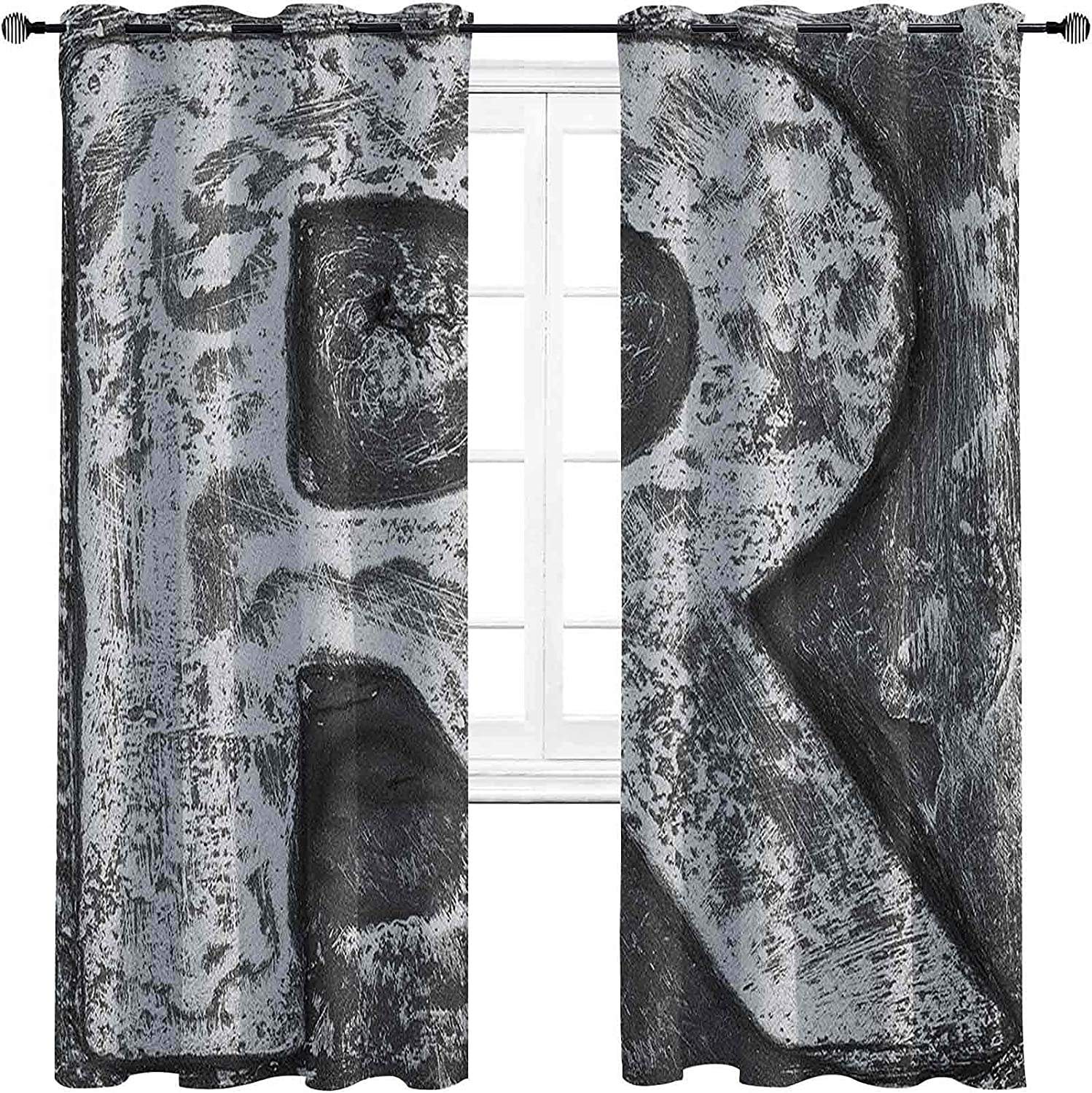 Letter R Lowest price Direct store challenge Blackout Curtains with Iron Toned Uppe darken Grommets