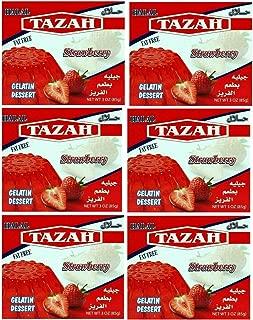 Strawberry Gelatin Dessert Jello Halal 3.oz/85gm each - Pack of 6 - جيلية حلال بطعم الفراولة