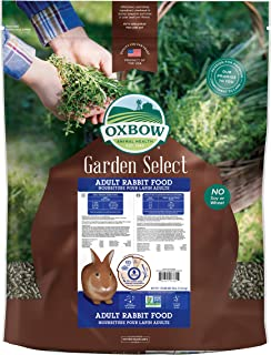 Oxbow Animal Health Garden Select Adult Rabbit Food, Garden-Inspired Recipe for Adult Rabbits, No Soy or Wheat, Non-GMO, Made in The USA, 25 Pound Bag