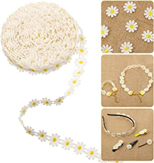 Milisten Rose Flower Sewing Lace Trim Ribbon Flower Embroidery Edge Trim for Sewing or Craft Decoration Yellow