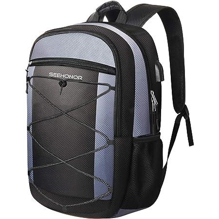 Yilong Waterproof Large Capacity 15.6 Inch Laptop Bag Man USB Design Backpack Black Women School Bags Bag Middle School Student Male Korean Version Of Junior High Fashion Shoulder Female Ins Tide Teen