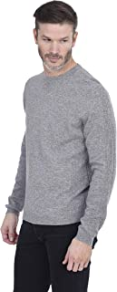 Men's Essential Crew Round Neck Pullover 100% Pure Cashmere Base Layer Long Sleeve Sweater