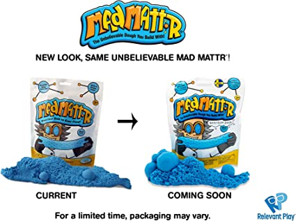 MAD MATTR Super-Soft Modelling Dough Compound That Never Dries Out by Relevant Play (Blue, 10oz)