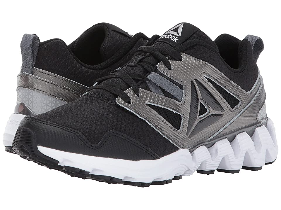 Reebok Kids Zigkick 2K17 (Big Kid) (Black/Pewter/Alloy/White/Silver Metallic) Boys Shoes