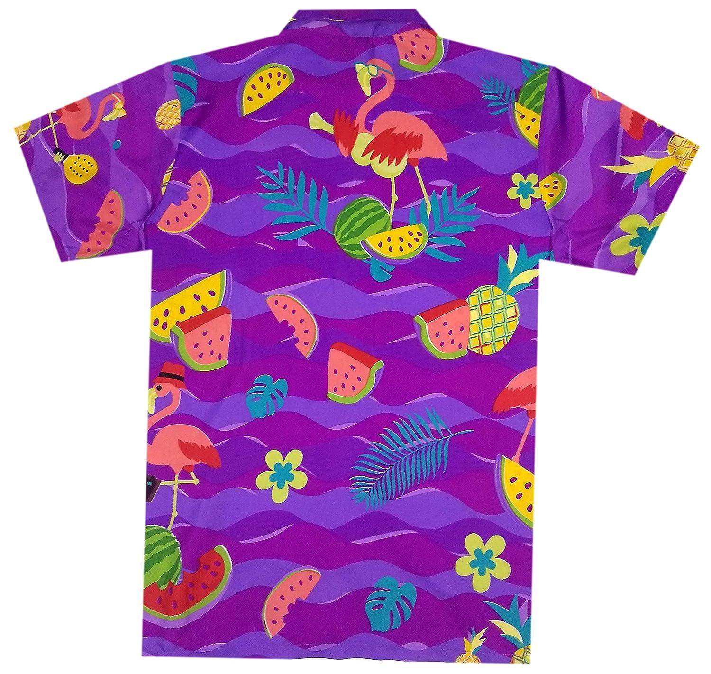 Virgin Crafts Camisa hawaiana para hombres impresa manga corta bot/ón abajo camisa de playa