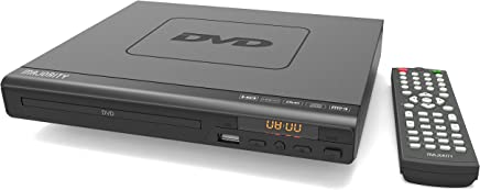 MAJORITY Scholars Milton Compact DVD Player, Multi-Regions 1/2/3/4/5/6, USB port, Remote Control, DivX, RCA Audio Cable for TV connect, HDMI port(Black)