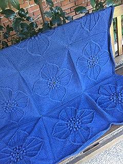 Coperta o copriletto 100% intrecciata a mano, copriletto, ornamento per divani e poltrone, quadrato, medio, lana vergine, ...