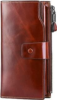 Women RFID Blocking Genuine Leather Clutch Wallet Card Holder Organizer