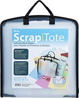 Darice Scrap Tote with Handle and Zipper, 14.25 x 15 inches
