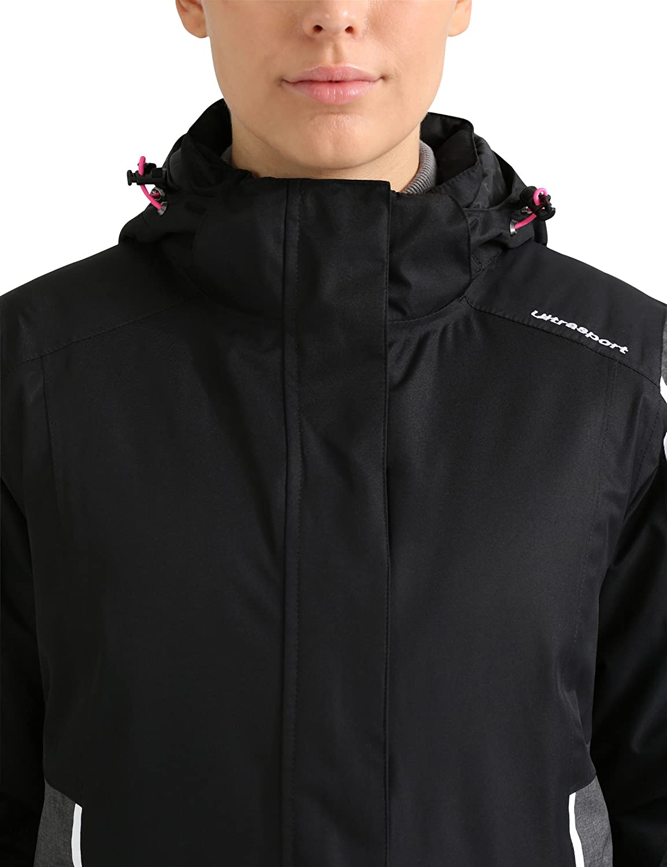 mit Schneefang Ultraflow 10.000 Funktions-Winterjacke f/ür Frauen modisches Design Snowboardjacke Verbier atmungsaktiv Ultrasport Advanced Damen Skijacke wind- und wasserdicht