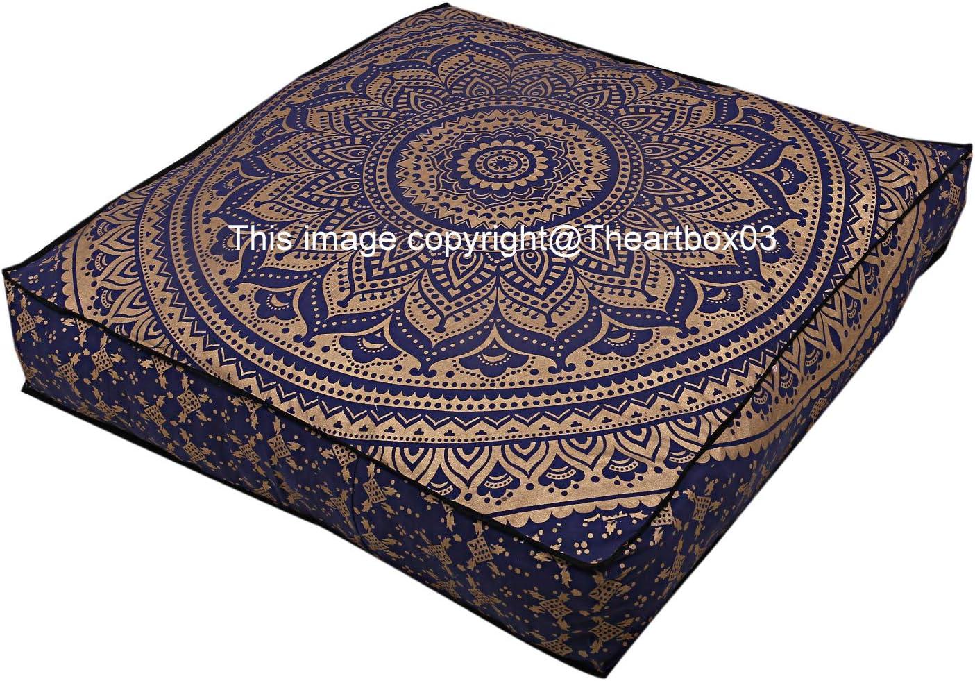 THE ART BOX Indian Ombre Mandala Ottoman Square Very popular! Pou Pillow Max 58% OFF Floor