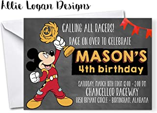 Mickey Roadster Racer Personalized Custom Invites