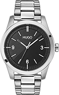 HUGO by Hugo Boss Men's Quartz Watch with Stainless Steel Strap, Silver, 22 (Model: 1530016)