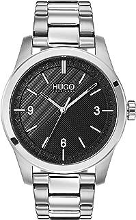 Hugo Men's #Create Quartz Stainless Steel and SS Bracelet Casual Watch, Black, 1530016