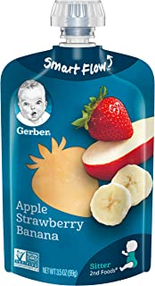 Gerber Purees 2nd Foods Apple Strawberry Banana Pouch (Pack of 12)