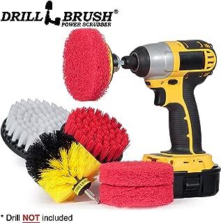 Cleaning Supplies - Bathroom Accessories - Drill Brush - Scouring Pad - Shower Cleaner - Bath Mat - Tile - Bathtub - Sink - Shower Door - Grout Cleaner - Kitchen Accessories - Outdoor - Scrub Brush
