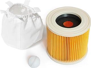 Liamostee 1//2//4 Piezas de Filtro de Cartucho para Cartuchos de Filtro de aspiradora KARCHER WD2.200 WD3.500