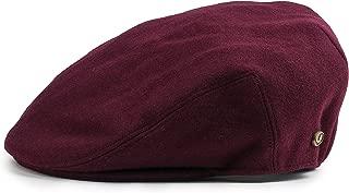 Men's Premium Wool Blend Classic Flat IVY newsboy Collection Hat ,Burgundy, Large